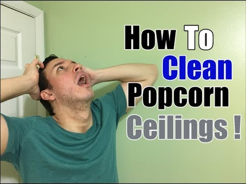 how-to-clean-popcorn-ceilings-|-cobweb,-dust-&-stain-removal