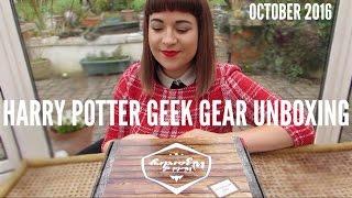 HARRY POTTER GEEK GEAR OCTOBER 2016 UNBOXING | georgina may dale
