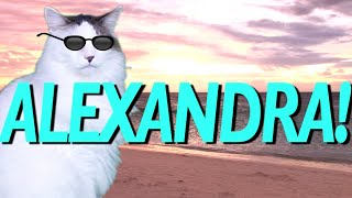 HAPPY BIRTHDAY ALEXANDRA! - EPIC CAT Happy Birthday Song