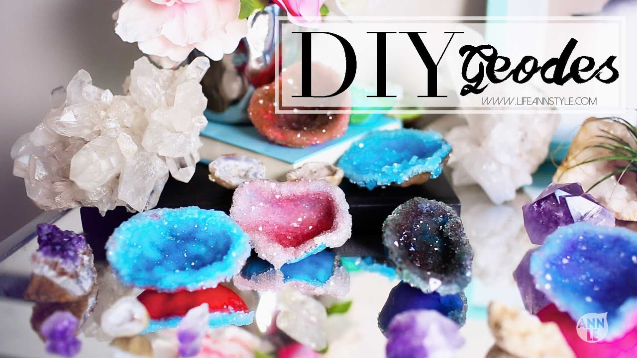 Diy crystals w polymer clay home decor ann le youtube for How to make home decorations