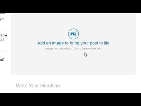 How to publish an article on LinkedIn
