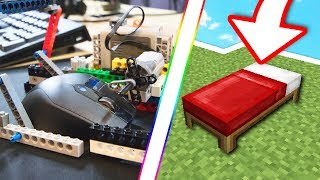 CHEATING IN MINECRAFT BEDWARS WITH LEGO AUTO CLICKER!! (Hypixel)