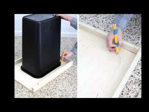 видео: Декор для кухни. Ведро мусорное своими руками | ๏̯͡๏  do it yourself ๏̯͡๏ |