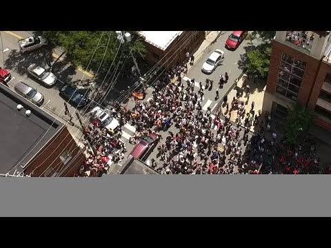 drone-video-shows-moment-car-plows-into-protests