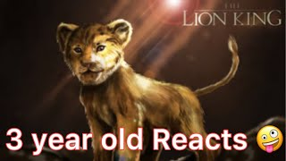 Ava Reacts to The New Lion King Movie Trailer || The Lion King 2019 || Toddler  Reacts