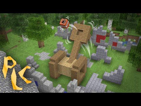 Если бы в Игре была Катапульта Minecraft