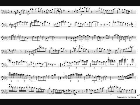 Callum Au 'September In The Rain' Trombone Solo Transcription