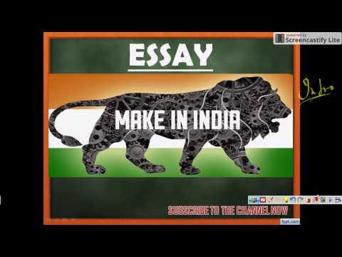 ESSAY on MAKE IN INDIA - SSC CGL TIER III