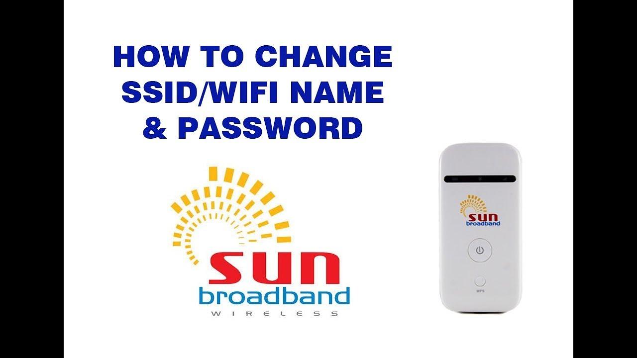 How to change WiFi name & Password of Sun broadband pocket wifi