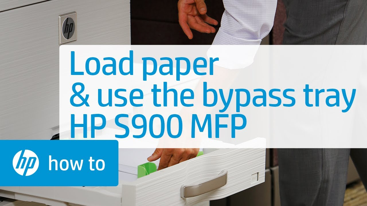 Loading Paper And Using The Bypass Tray On The Hp S900