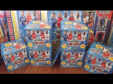 YT PREMIERE... UNBOXING BOOSTER BOX (500 CARDS!!!) & DELUXE STARTER PACK topps MATCH ATTAX 2014 TCG