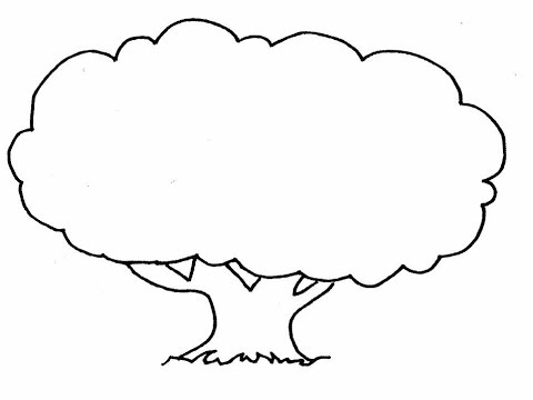 How to draw a tree in easy steps youtube - Dessin arbre simple ...