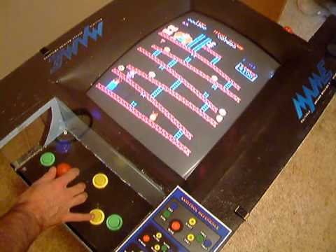 Mame Arcade Cocktail Cabinet 100 Complete Youtube