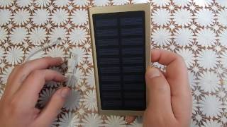 Обзор. Power Bank внешний аккумулятор на 12000 mAh с солнечной панелью
