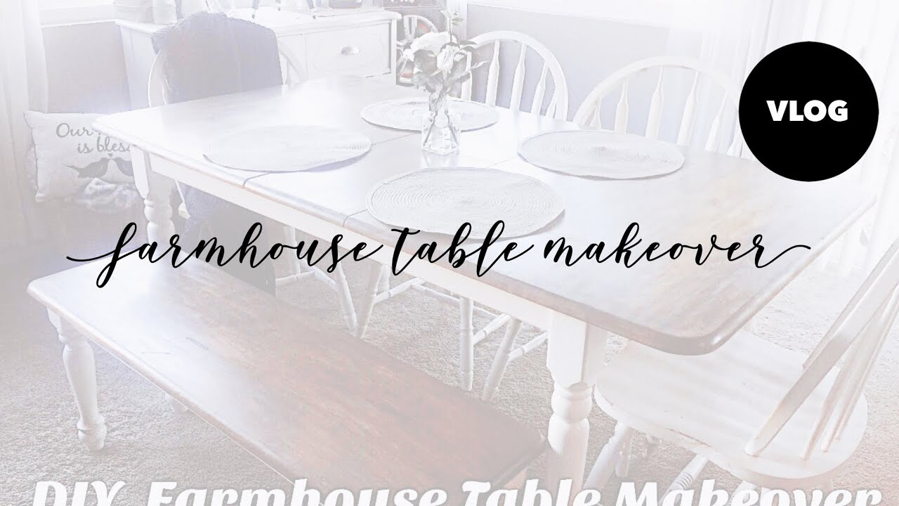 DIY Farmhouse Table Makeover Part 51