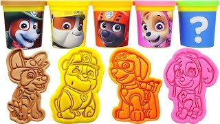 Gambar cover Play-Doh PAW Patrol Molds & Skye, Rubble, Tracker, Zuma, Ryder