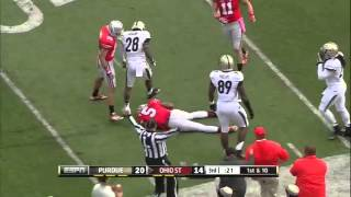 Football player taken to hospital after hard hit