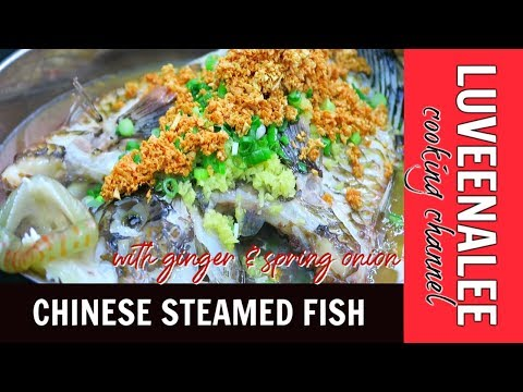 Chinese Steamed Fish Recipes   Chinese Steamed Fish With Ginger And Spring Onion 😍