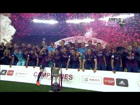 Athletic Bilbao vs.Barcelona - Copa Del Rey Trophy Presentation 30/05/2015 HD