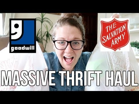 MASSIVE THRIFT HAUL!!!  | GOODWILL & SALVATION ARMY