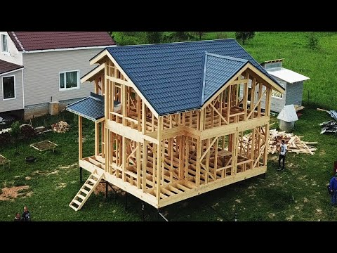 THE BUDGET THE HOUSE FOR 6 DAYS! FRAME HOUSE 6 DAYS FOR 15 MINUTES!