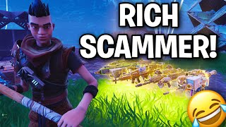 Spoiled RICH KID! Escroqueries lui-même 😂 (Scammer Get Scammed) Fortnite Save The World