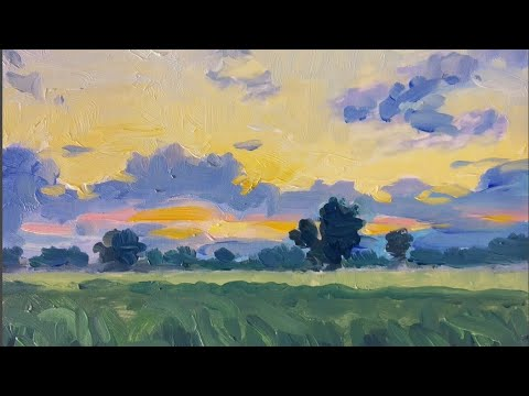 Landscape Oil Painting|| How to Paint a Simple Landscape | Oil Painting lessons | Oil Painting Tips