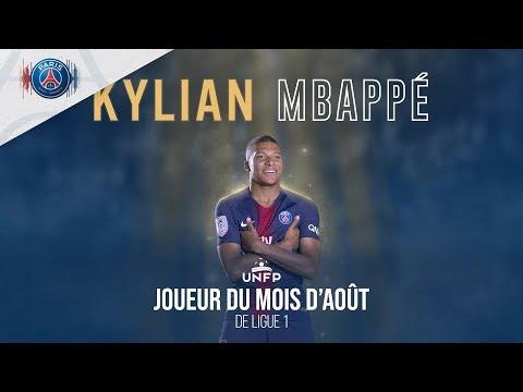 KYLIAN MBAPPE : MEILLEUR JOUEUR UNFP DU MOIS D'AOUT