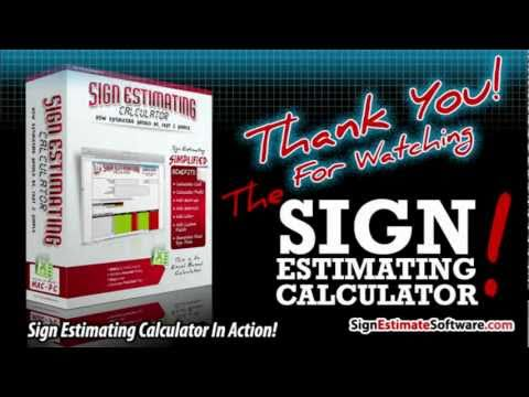 Sign Estimate Software - A Powerful Estimating Tool For Sign Shops