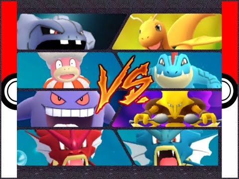 Pokémon GO Gym Battles ⭐ Level 10 ⭐ Gym Feraligatr Gengar Venusaur Alakazam Slowking Muk & more