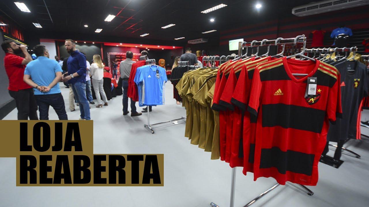 058f42097e Esportes] Sport reinaugura loja oficial na Ilha do Retiro - YouTube