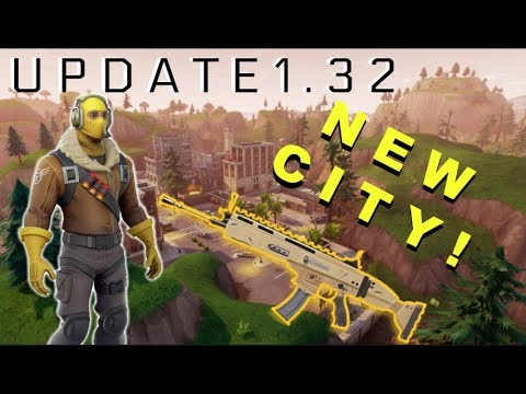 *NEW* FORTNIE UPDATE 1.32 // NEW WEAPON CHANGES AND NEW MAP (Fortnite Battle Royale V.1.10)