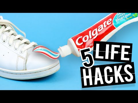 Thumbnail: 5 LIFE HACKS that will change your life - Waterproof shoes and more!