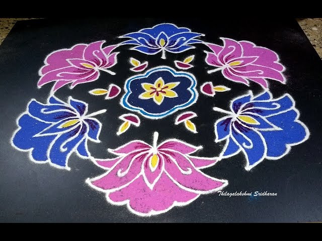 EASY DOTTED KOLAM FOR MARGAZHI   DOTTED KOLAM WITH 15-8 DOTS   ??????? ?????