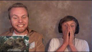 SOS Bros React - Attack on Titan Season 2 Episode 7 - Titan Battle HYPE!!!