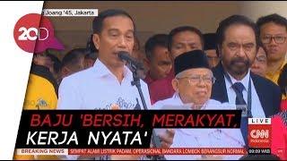 Gaya Jokowi-Ma'ruf Amin Deklarasi di Gedung Joang