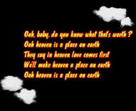 Belinda Carlisle Heaven Is A Place On Earth Lyrics Youtube
