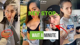 Hey Stop... Wait a Minute (Water Bottle) 💦 Prank *tik tok compilation*