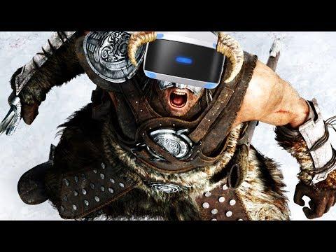Virtual Reality DRAGONBORN! - Skyrim PSVR Gameplay