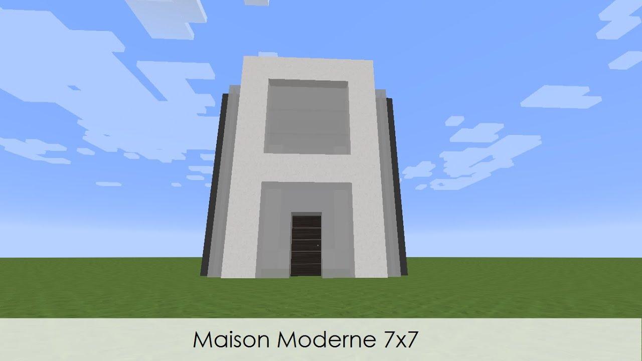 Tuto minecraft construire une maison moderne 7x7 youtube for Maison moderne 7x7
