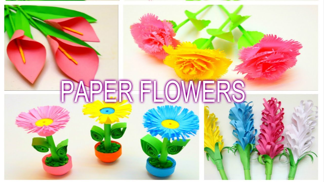 Paper flowers craft ideas emma diy 77 youtube paper flowers craft ideas emma diy 77 mightylinksfo