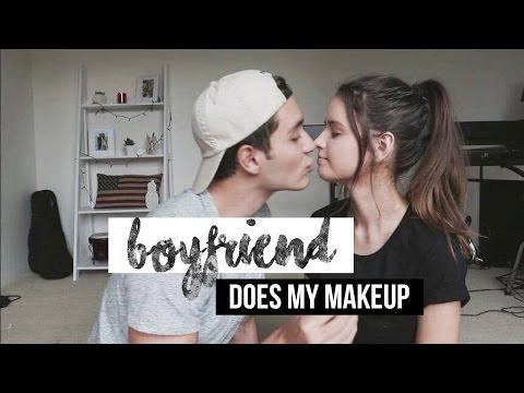 BOYFRIEND DOES MY MAKEUP | Jess Bauer & Gabriel Conte