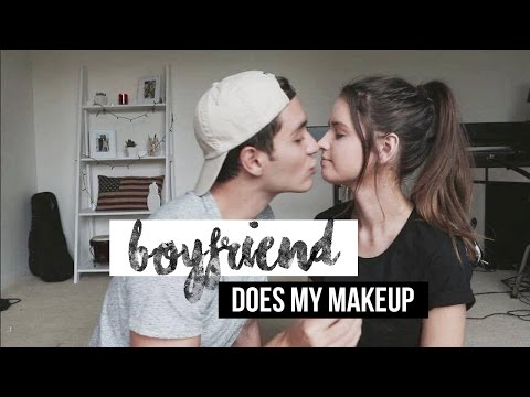 BOYFRIEND DOES MY MAKEUP | Jess Bauer & Gabriel Conte thumbnail