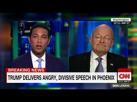 Clapper's full interview on Trump's rally