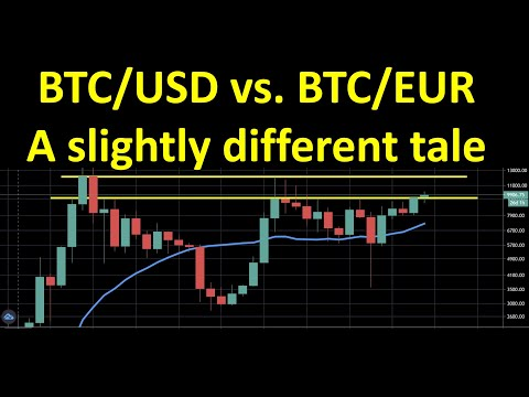Bitcoin Valuation Against USD And EUR: A Slightly Different Tale