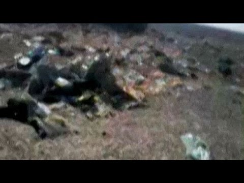 Immediate aftermath of Russian plane crash