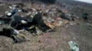 Immediate aftermath of Russian plane crash