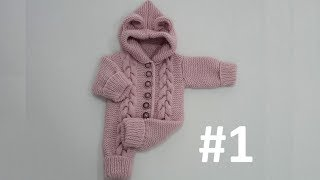 Baby Jumpsuit with a Hoodie (1-Year) #1 - Making of Body