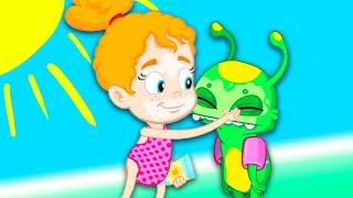 Groovy Le Martien & Phoebe vont à la plage - Dessin animé bébé