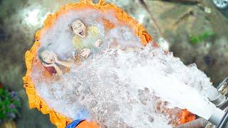 Làm Bể Bơi Tạo Sóng Trên Mặt Đất ❤ Bể Bơi Thần Tiên - Trang Vlog